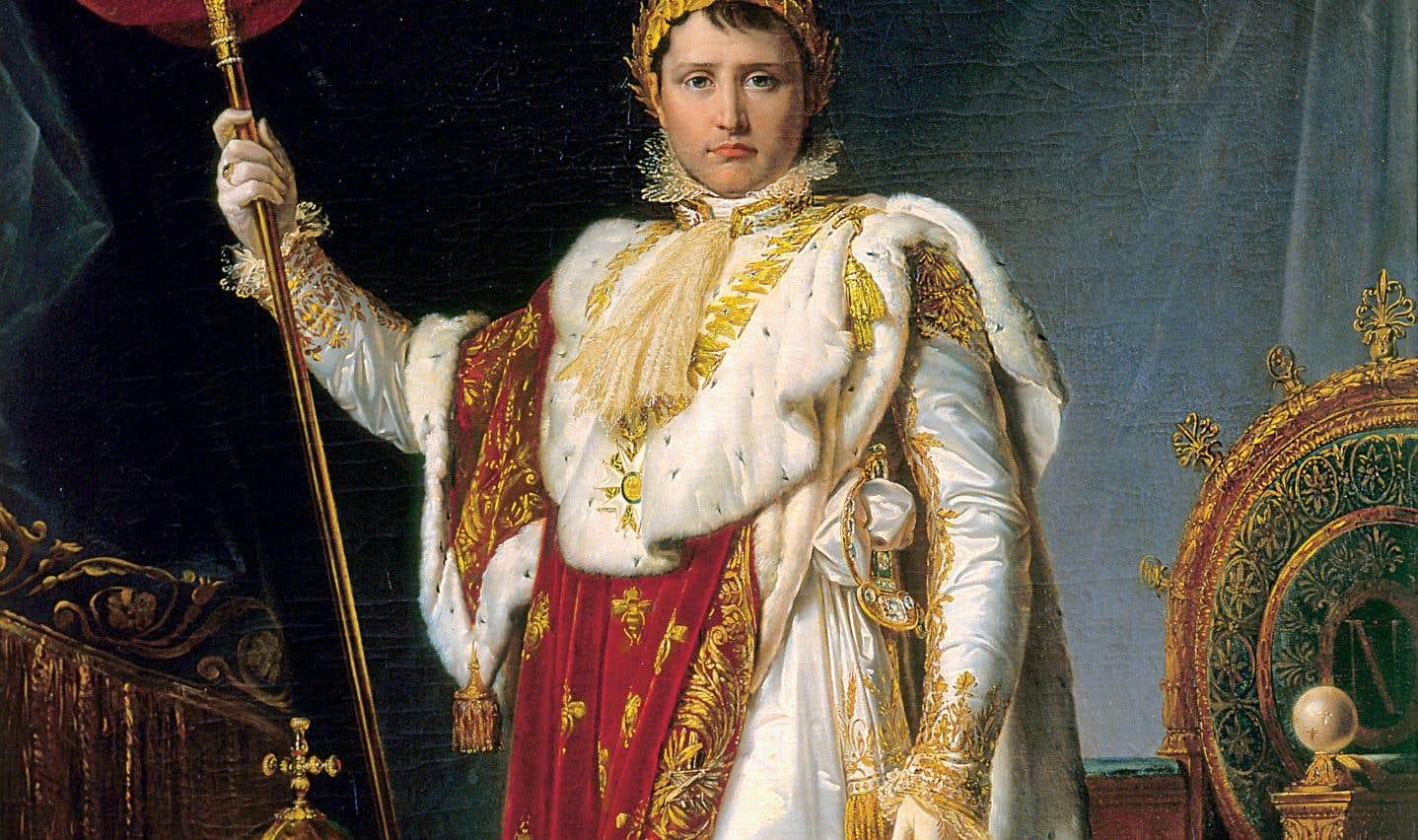 François-Pascal-Simon Gérard (1770-1837), «Portrait de Napoléon en grand habillement» (détail), 1805, huile sur toile, château de Fontainebleau, musée Napoléon Ier