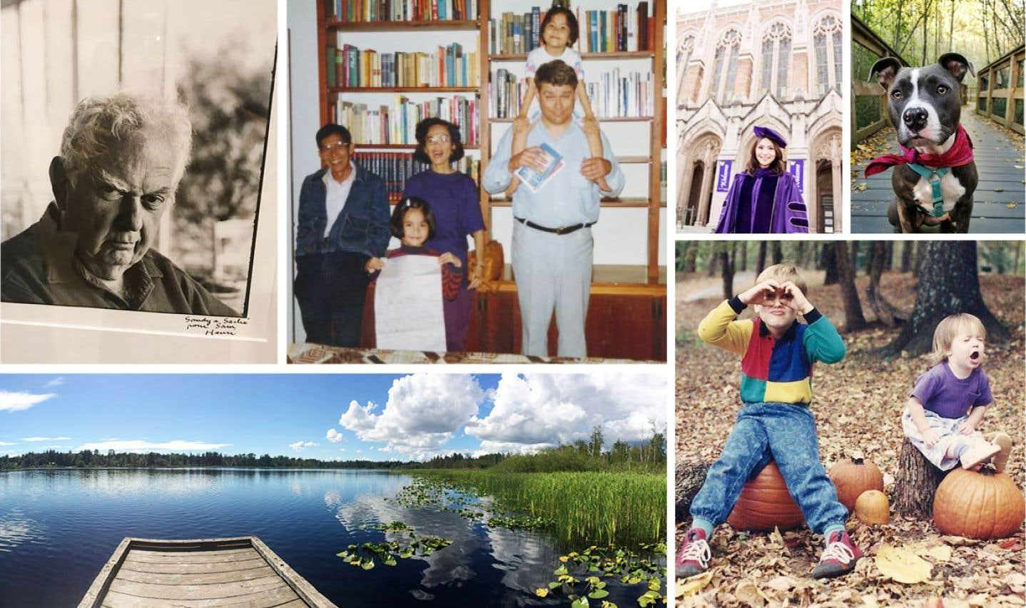Quelques-unes des photos envoyées au #MemoriesInDNA Project.