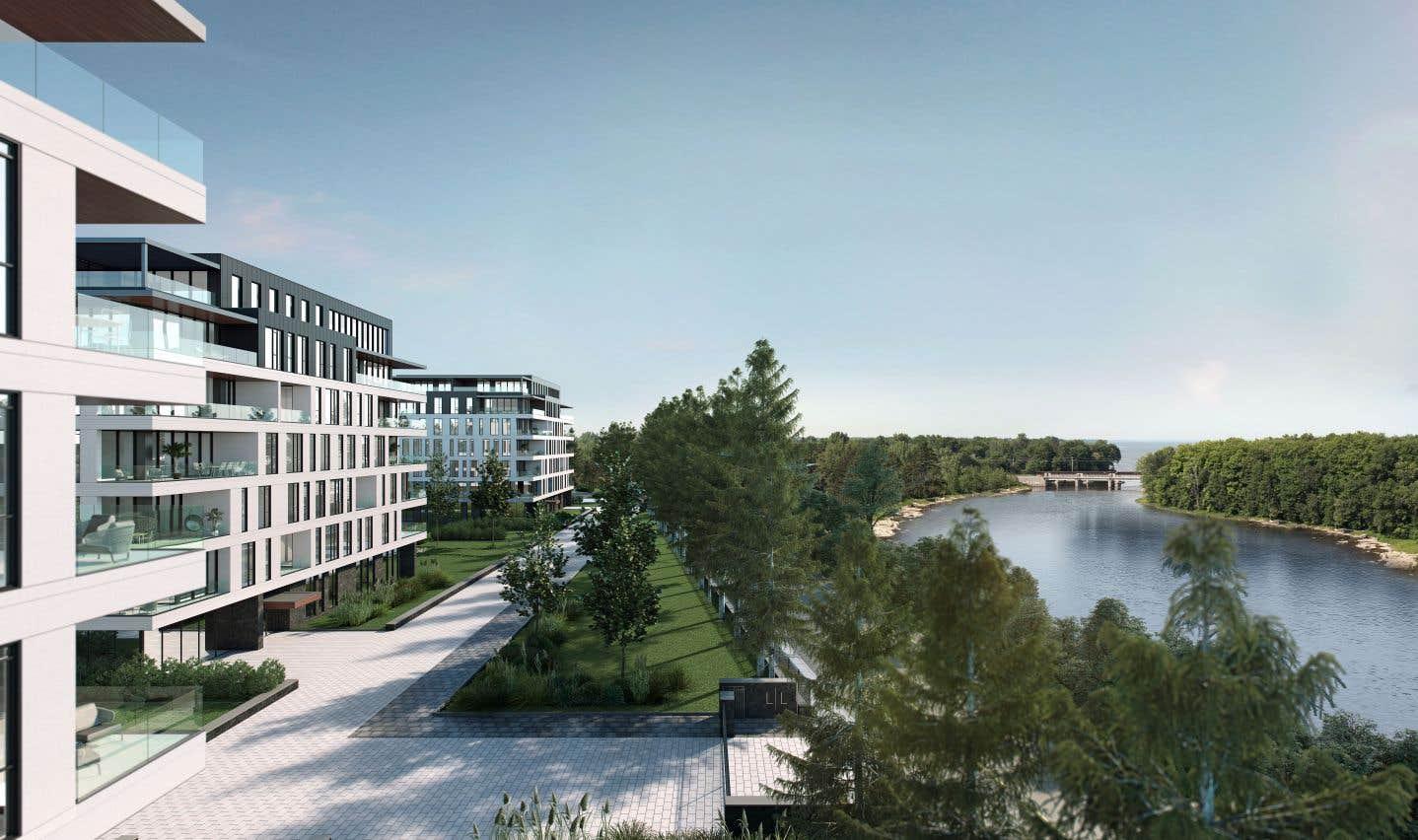 Les quatre bâtiments du projet L|L bénéficieront d'un cadre exceptionnel.