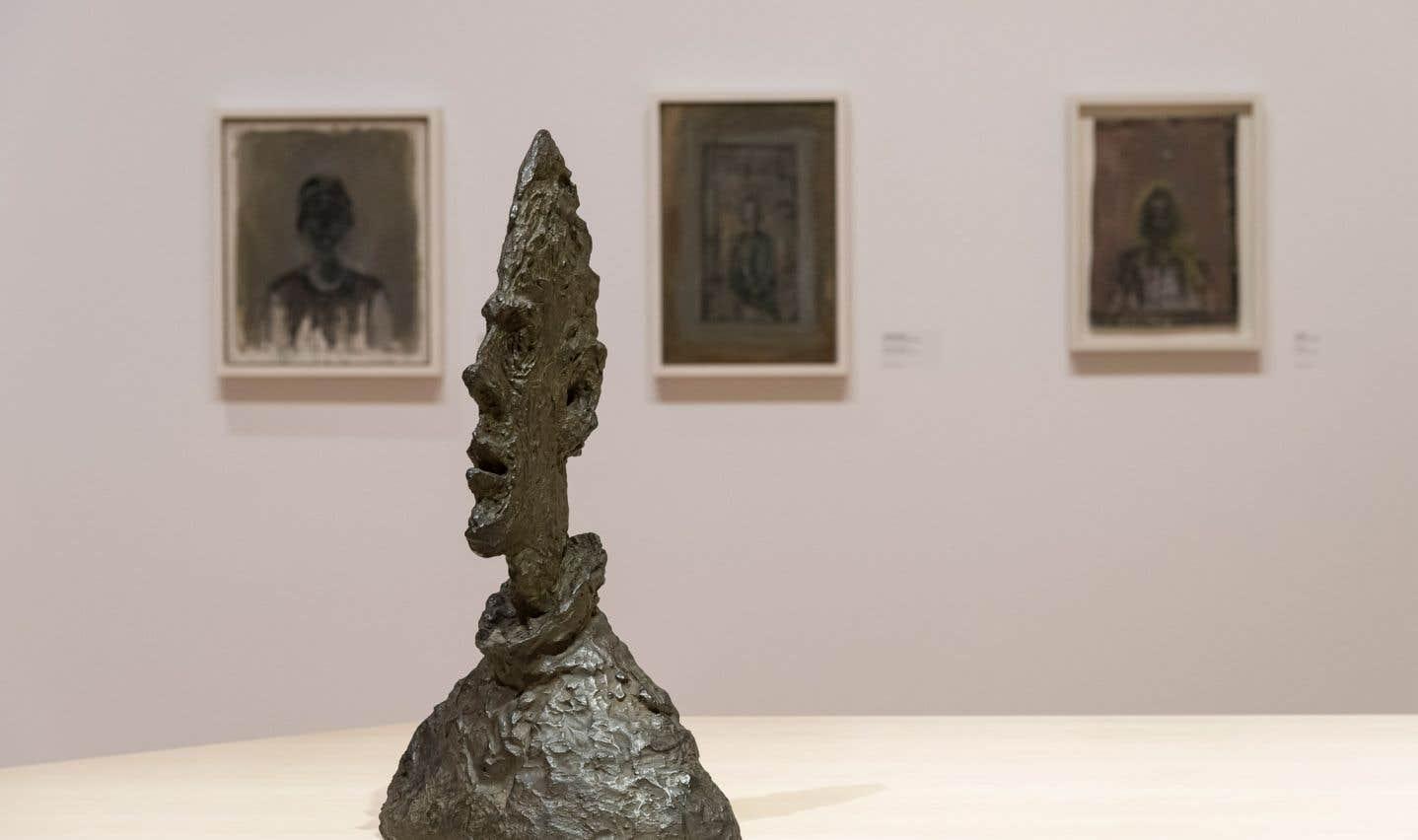 Alberto Giacometti, «Grande tête mince», 1955. Bronze.