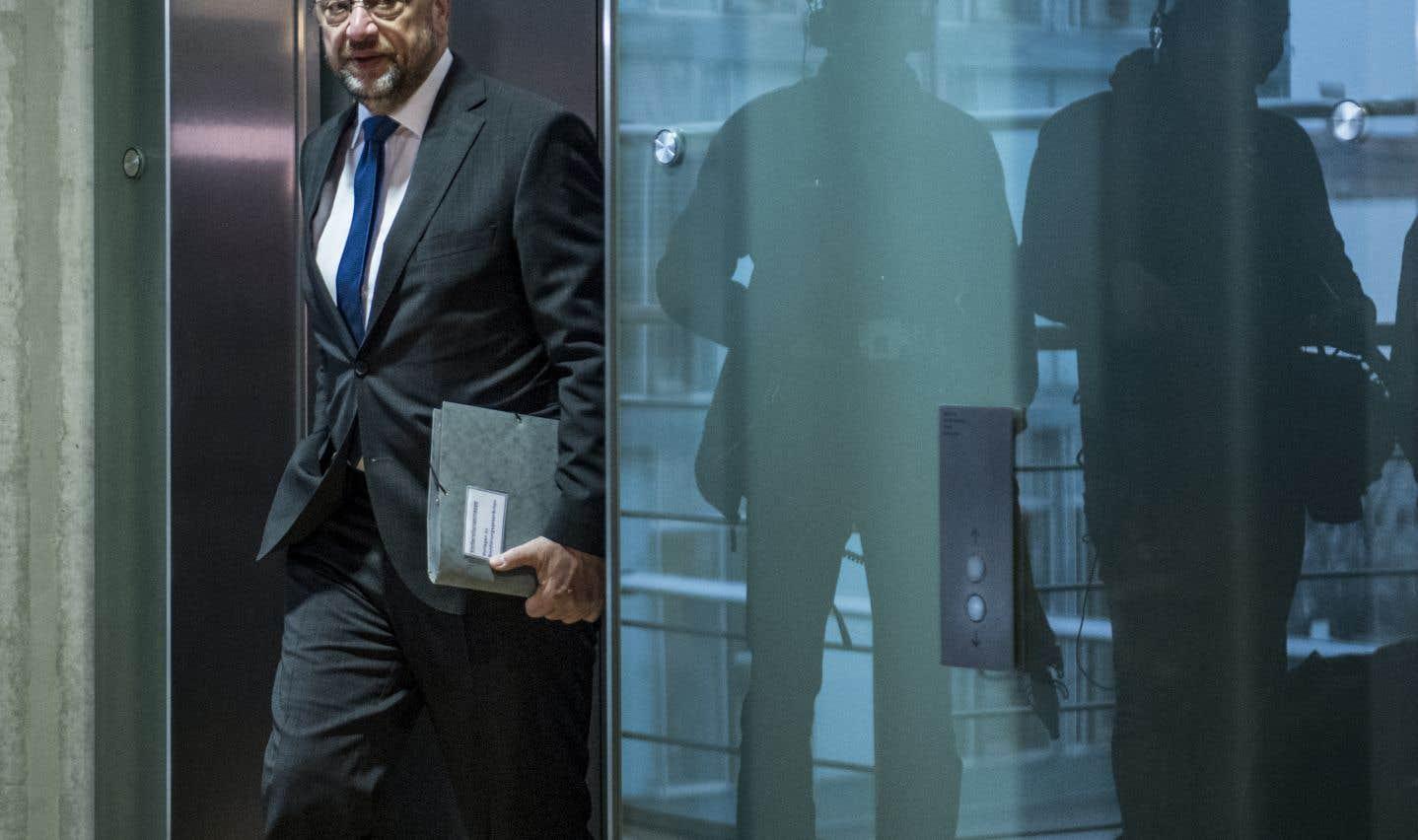 La chute aura été brutale pour l'ancien président du Parlement européen,Martin Schulz.
