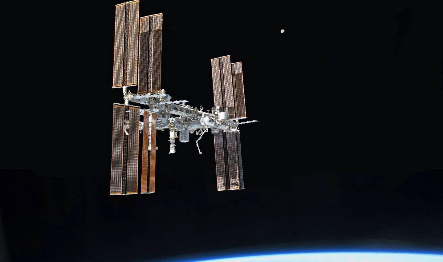 La Station spatiale internationale vue de la navette Atlantis en juillet 2011