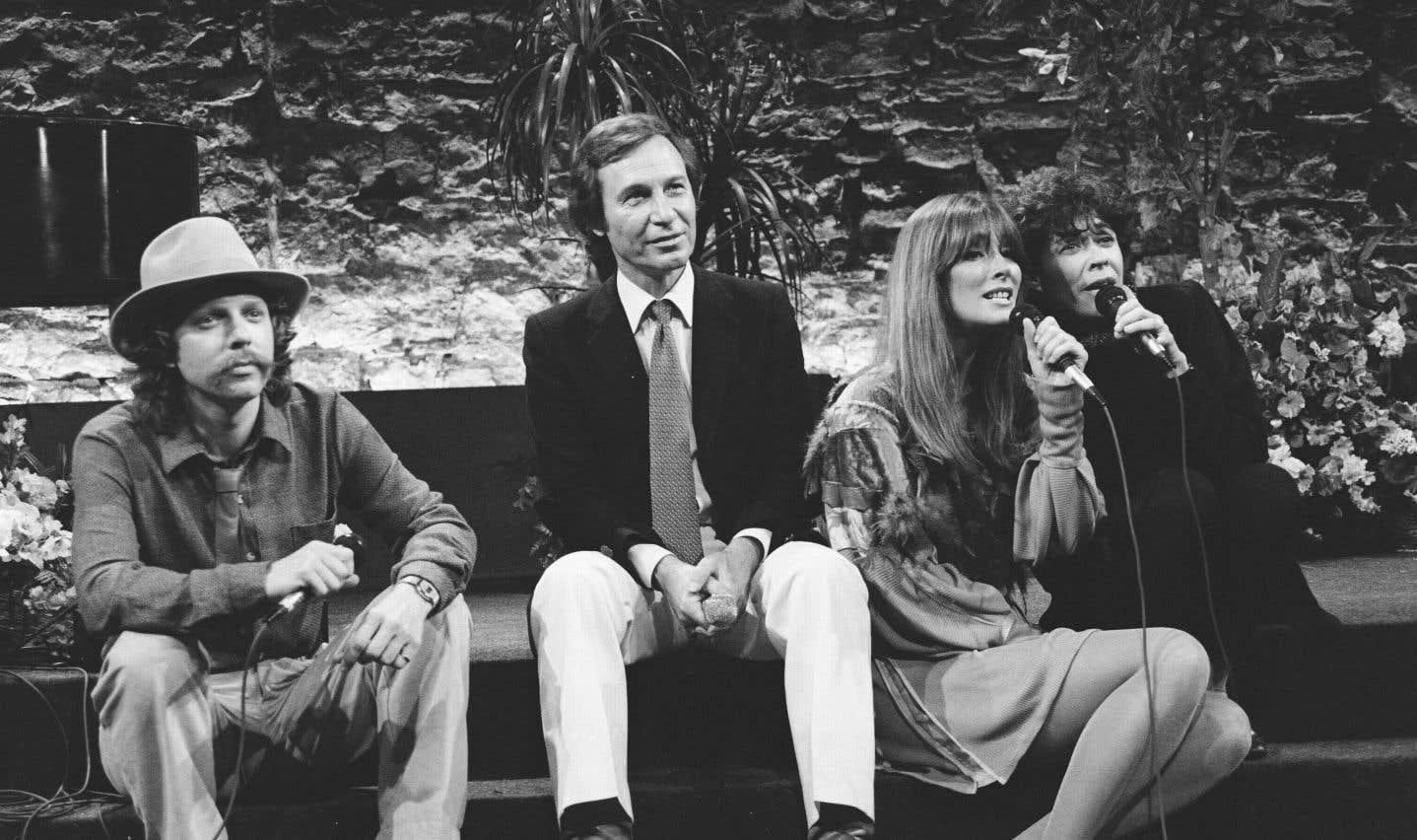 Sur le plateau de «Station-Soleil», l'émission de variétés animée par Jean-Pierre Ferland dans les années 1980