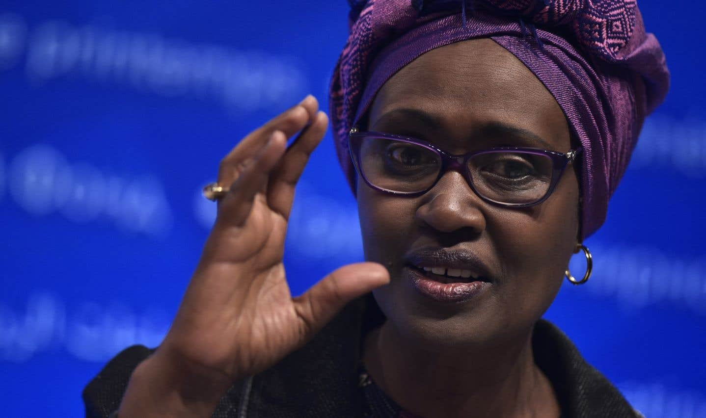 La directrice exécutive d'Oxfam international, Winnie Byanyima
