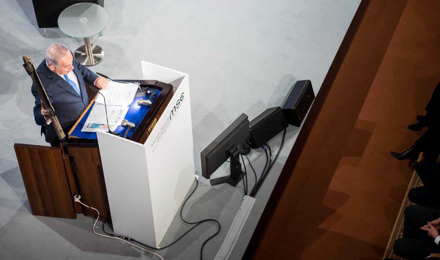 Le premier ministre israélien, Benjamin Nétanyahou,participait à la Conférence sur la sécurité de Munich, dimanche.