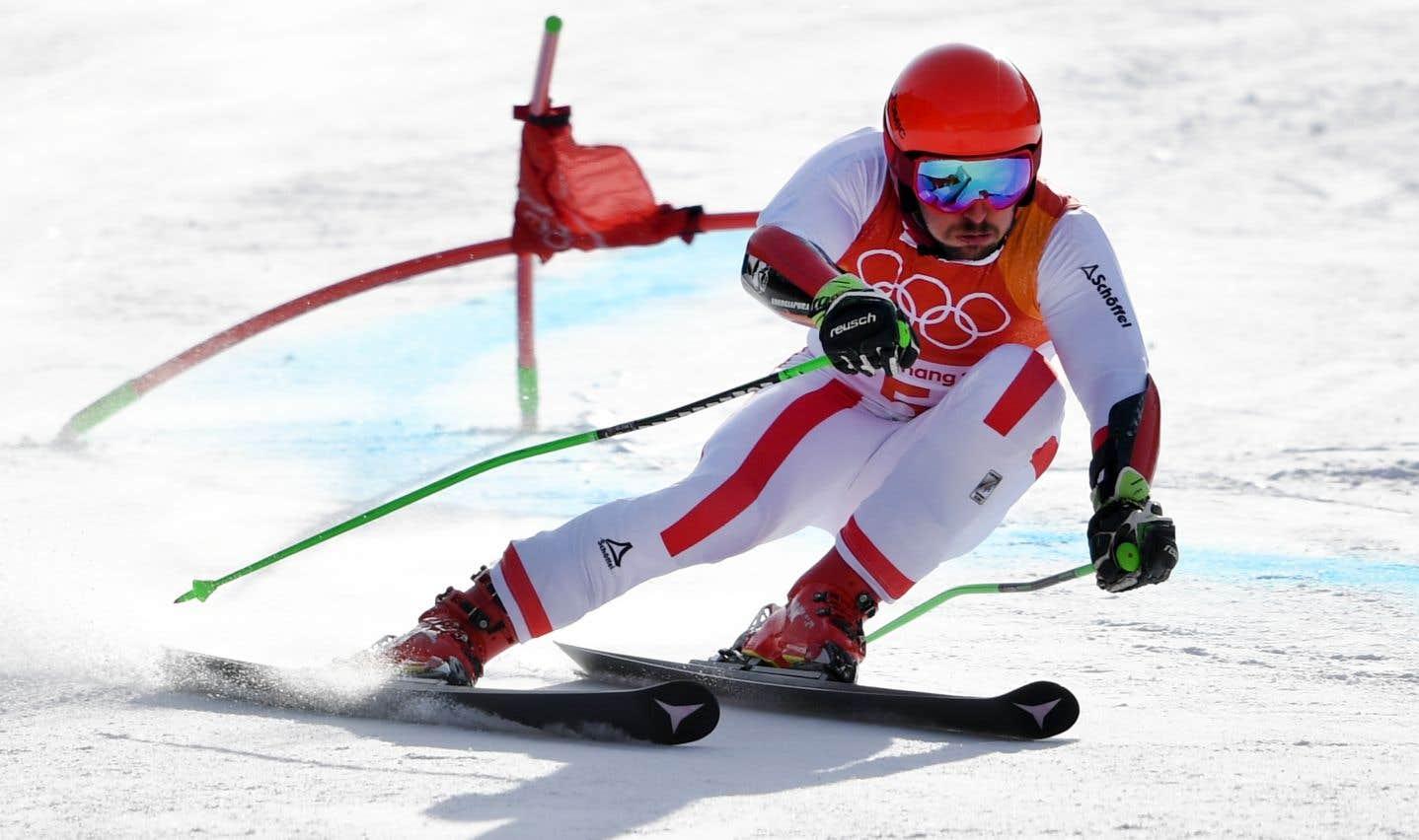 Après la médaille d'or au combiné, l'Autrichien Marcel Hirscher a ajouté le titre olympique du slalom géant à son palmarès.