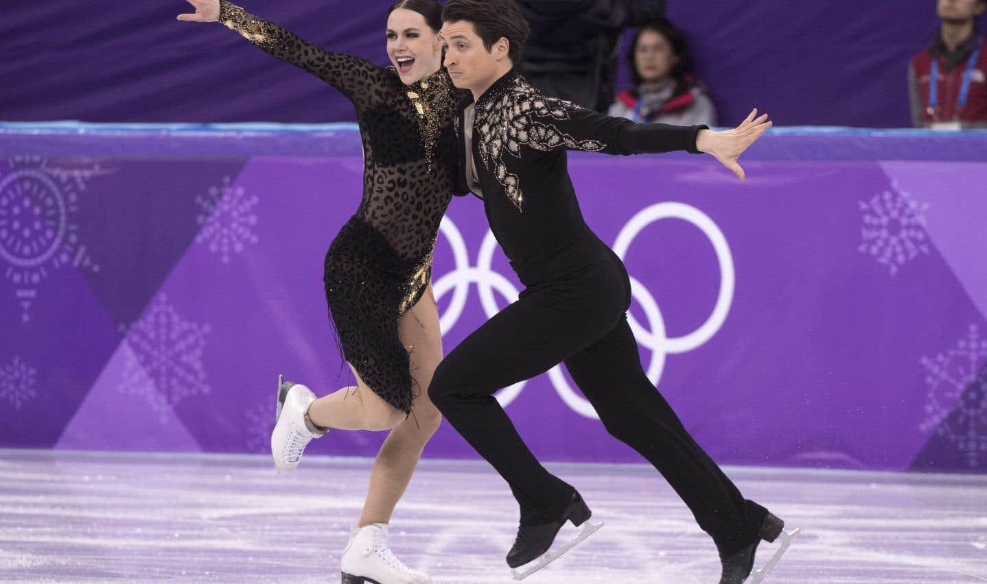 Tessa Virtue et Scott Moir, lundi, à Gangneung