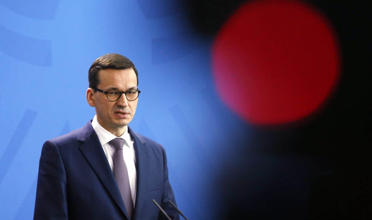 Le premier ministre polonais, Mateusz Morawiecki, à Berlin