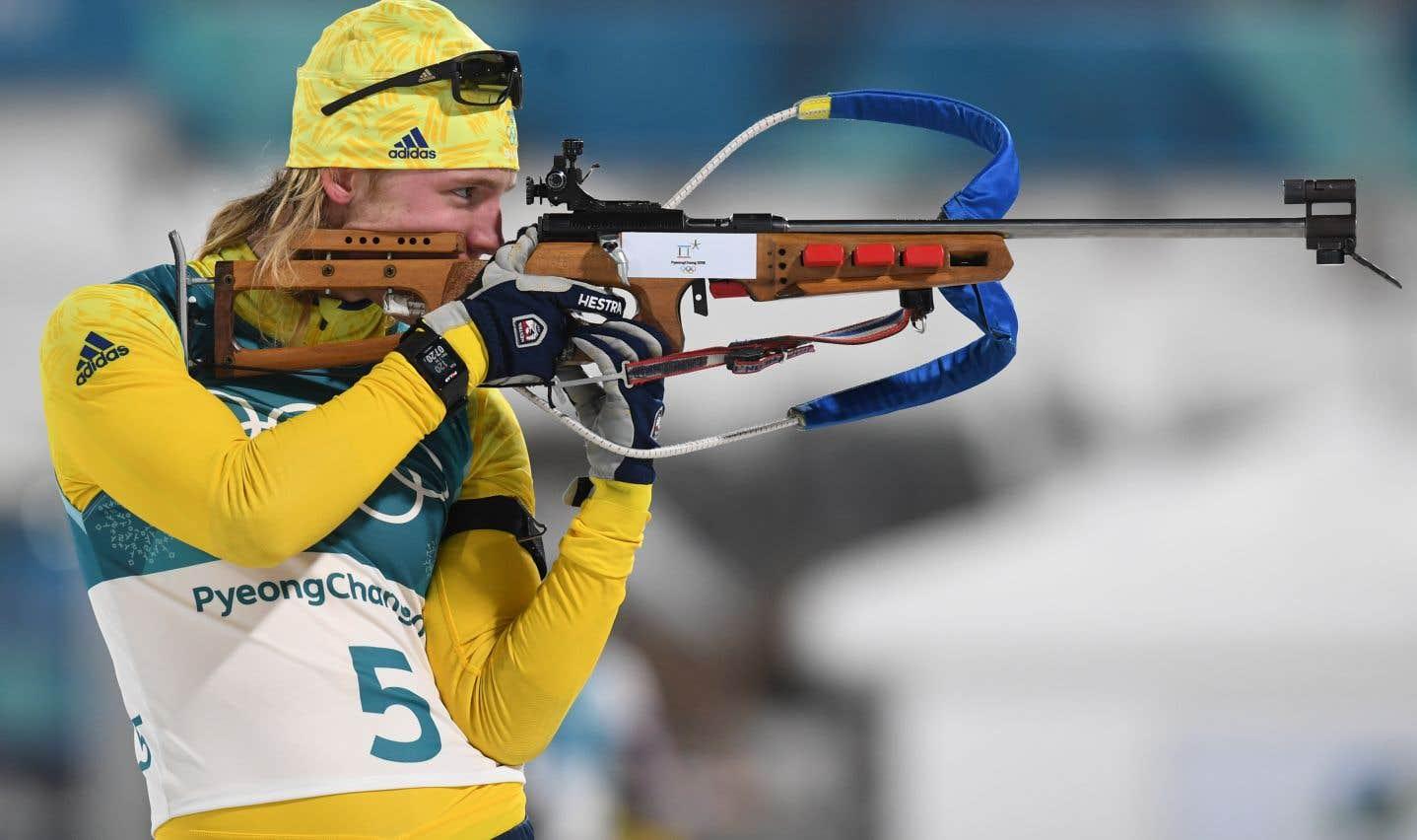 Le biathlon n'apparaît aux Jeux olympiques d'hiver qu'en 1960, où il ne compte d'abord que pour une épreuve.