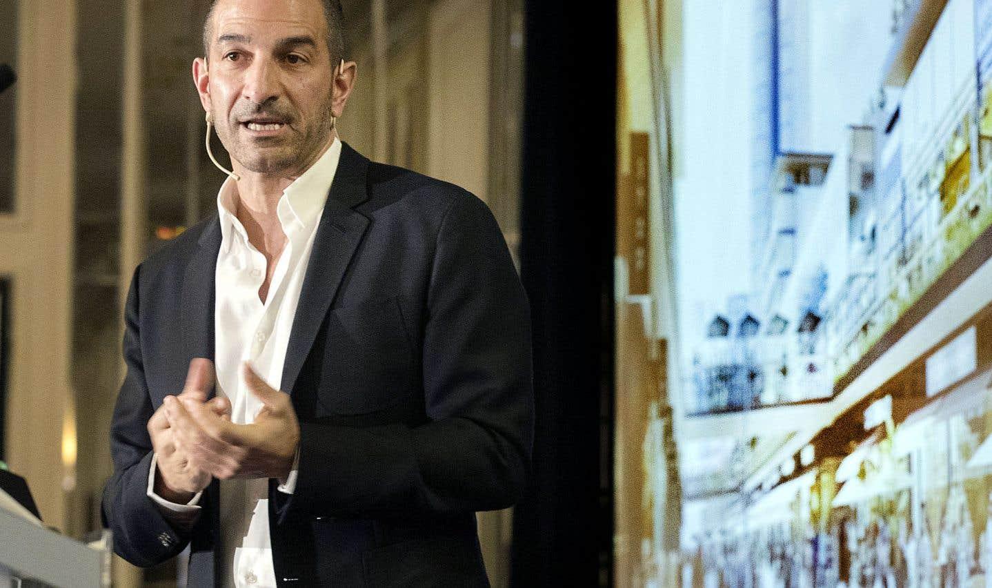 Andrew Lutfy, président et chef de la direction de Carbonleo, a présenté lundi le projet de centre commercial et de divertissement qui devrait voir le jour d'ici 2022.