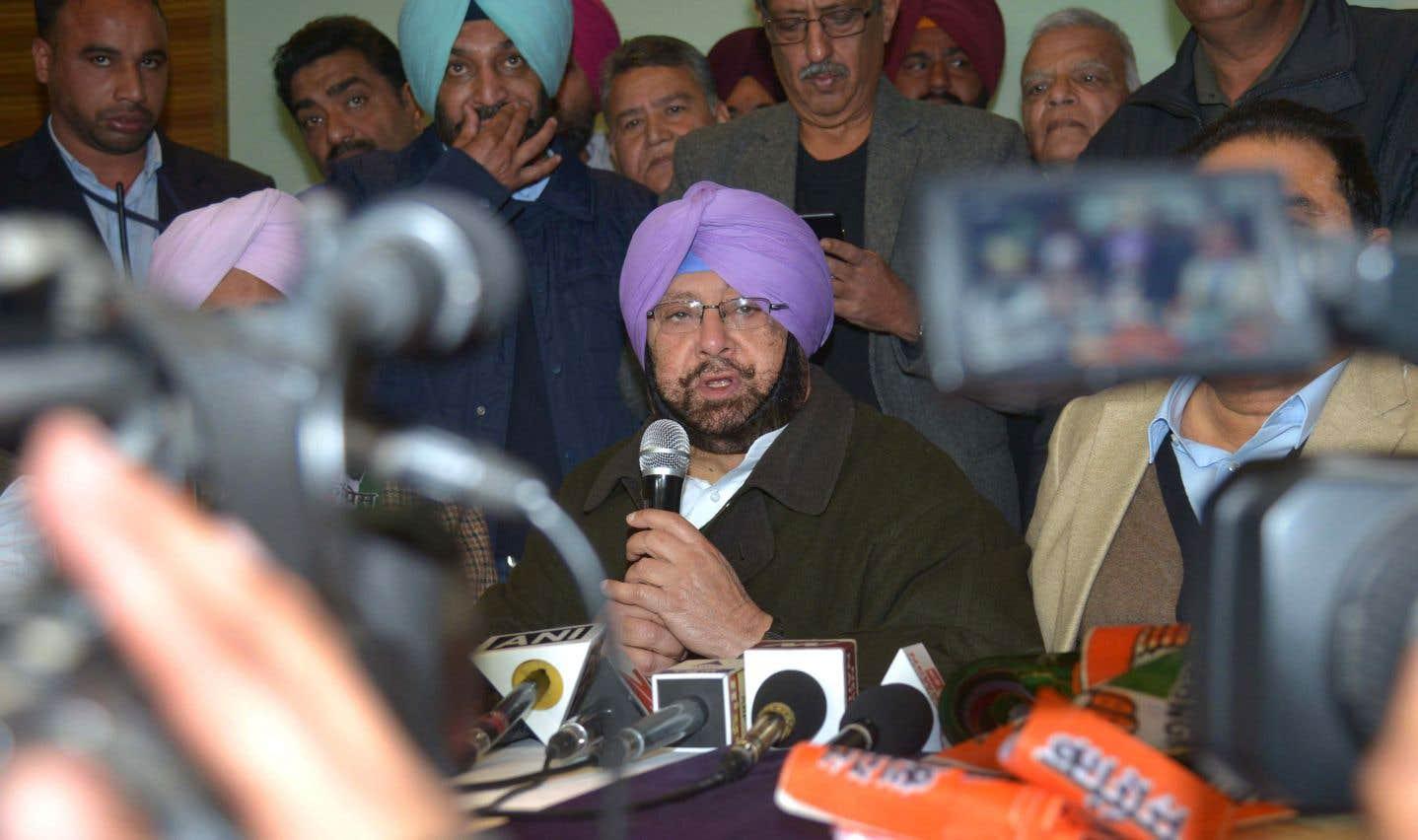 Le ministre en chef de l'État du Pendjab,Amarinder Singh