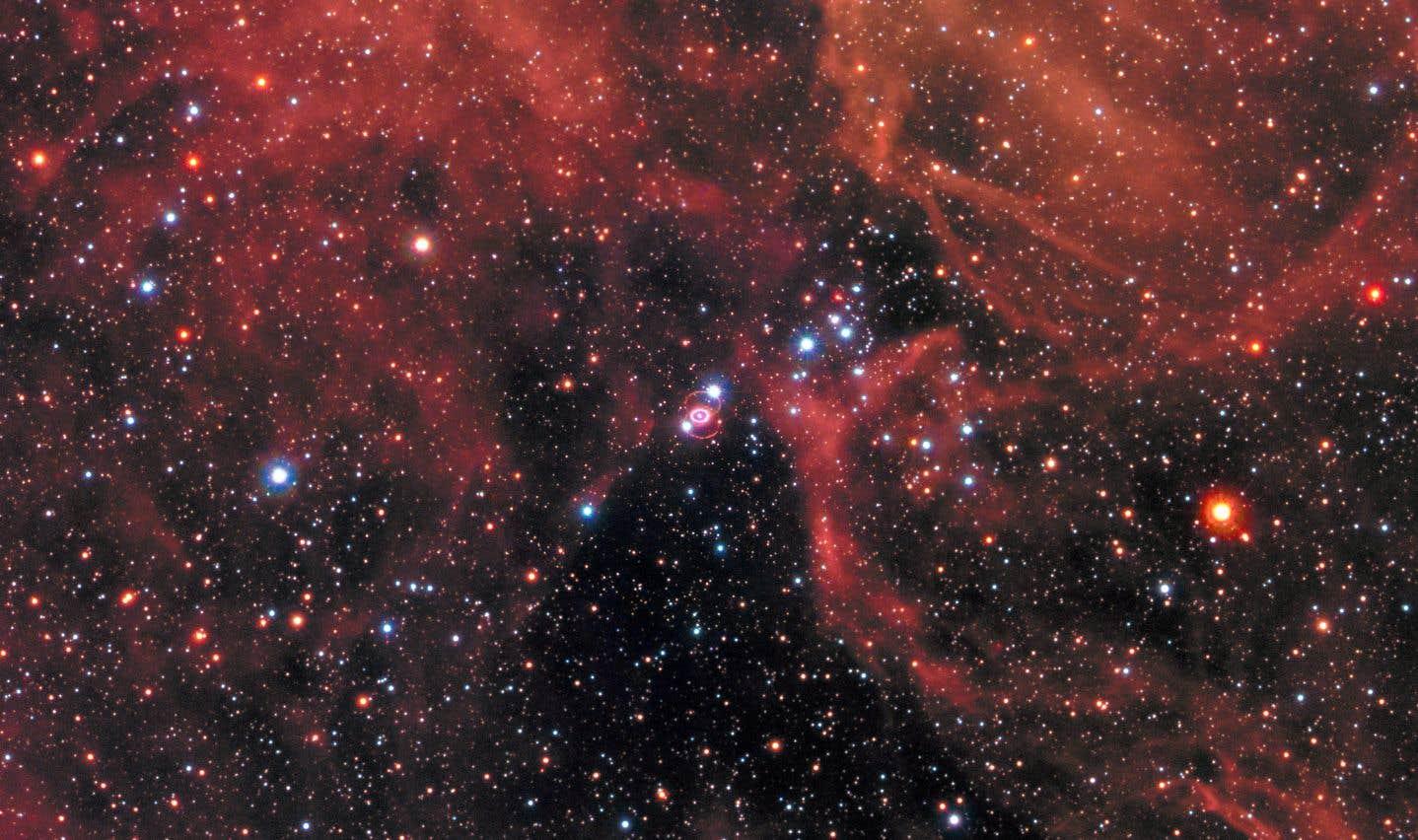 Une image des restes d'une autresupernova, SN 1987A, prise par le télescope spatial Hubble en janvier 2017.