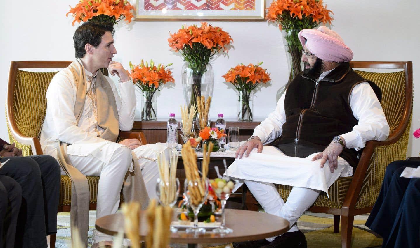 Justin Trudeau a rencontré Amarinder Singh