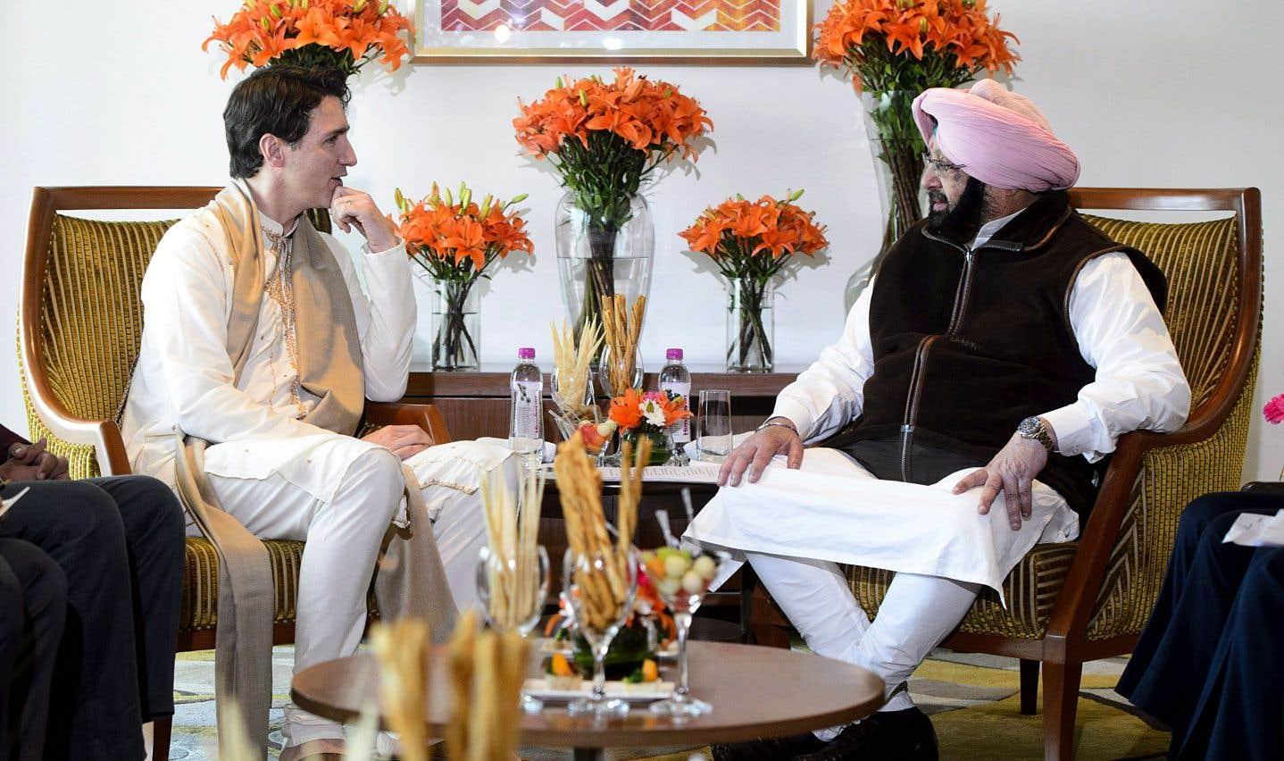 Justin Trudeau a rencontré Amarinder Singh mercredi.