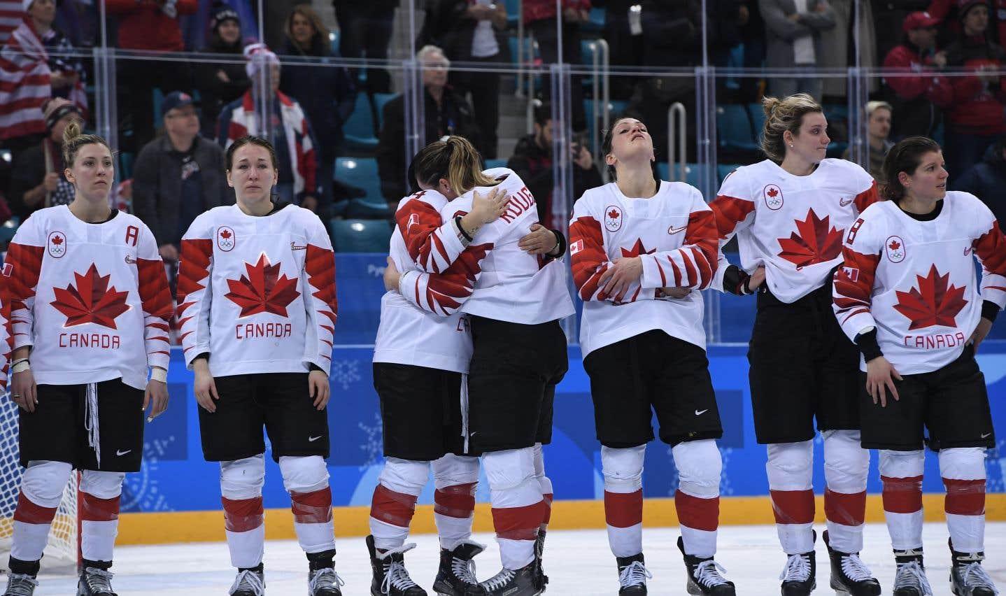 Le Canada s'est incliné 3-2 en tirs de barrage en finale de hockey féminin aux Jeux de Pyeongchang.