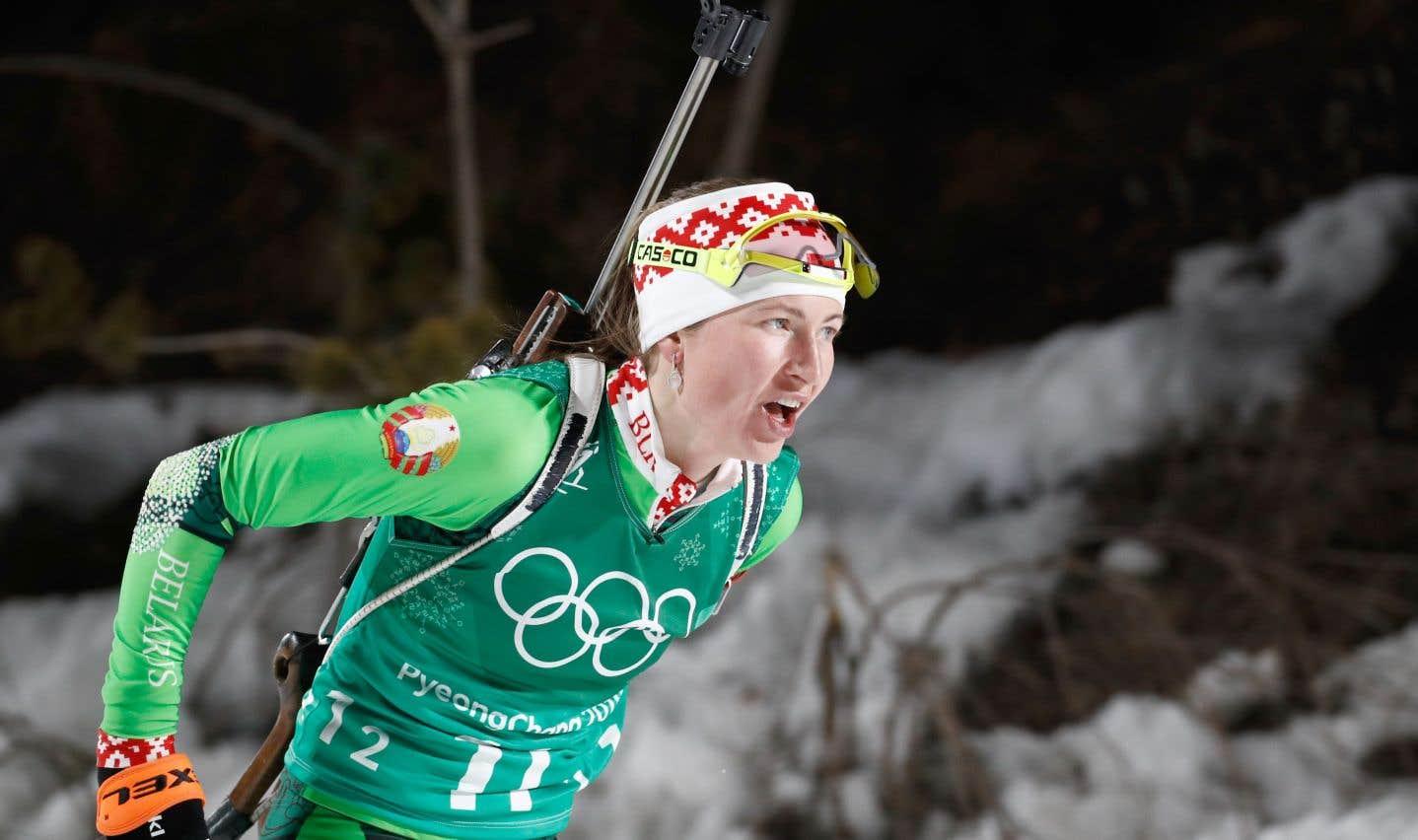 La Bélarusse Darya Domracheva est désormais la biathlète la plus titrée de l'histoire aux Jeux olympiques avec quatre médailles d'or.