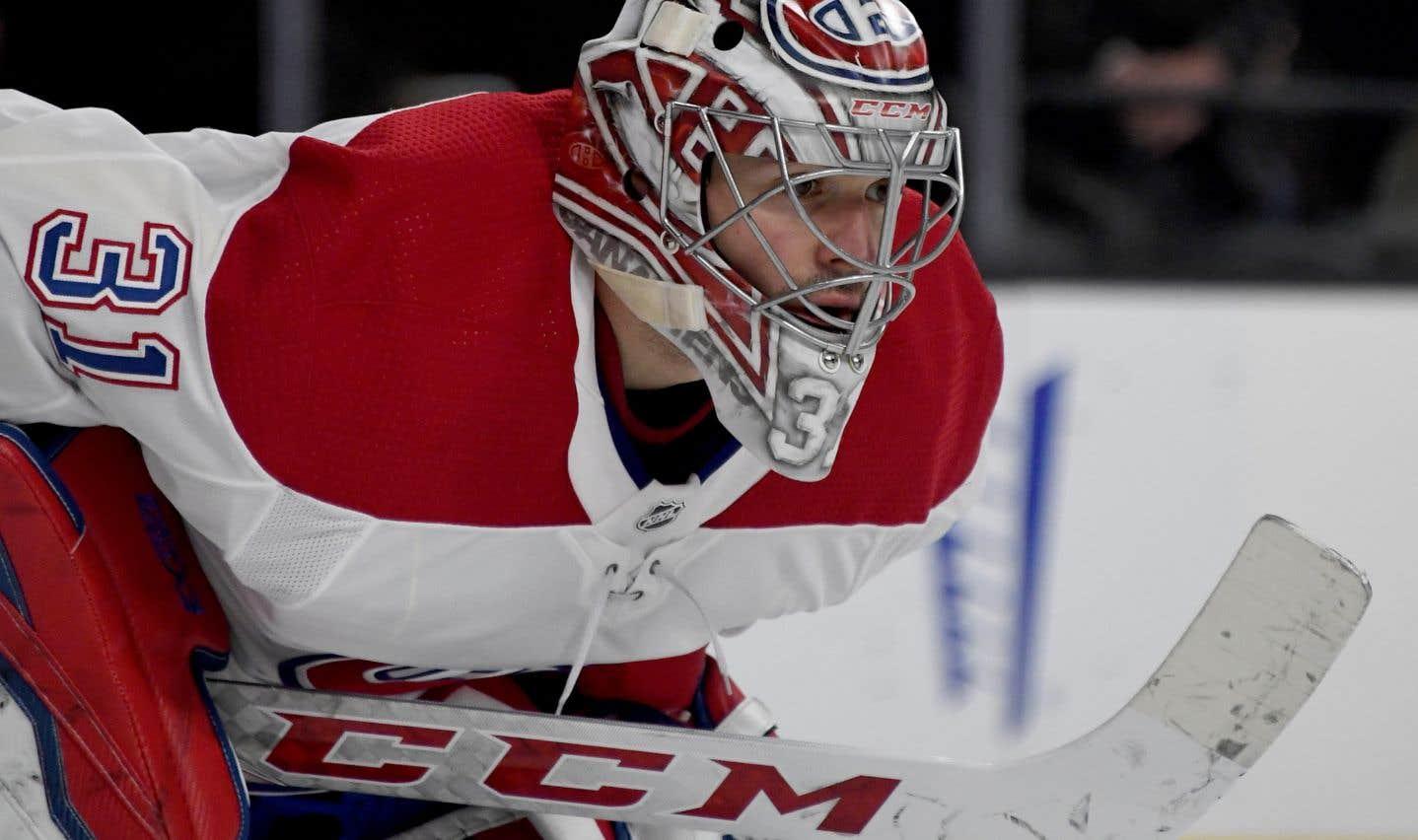 Carey Price est le deuxième gardien du Canadien de Montréal à subir une commotion cérébrale cette saison.