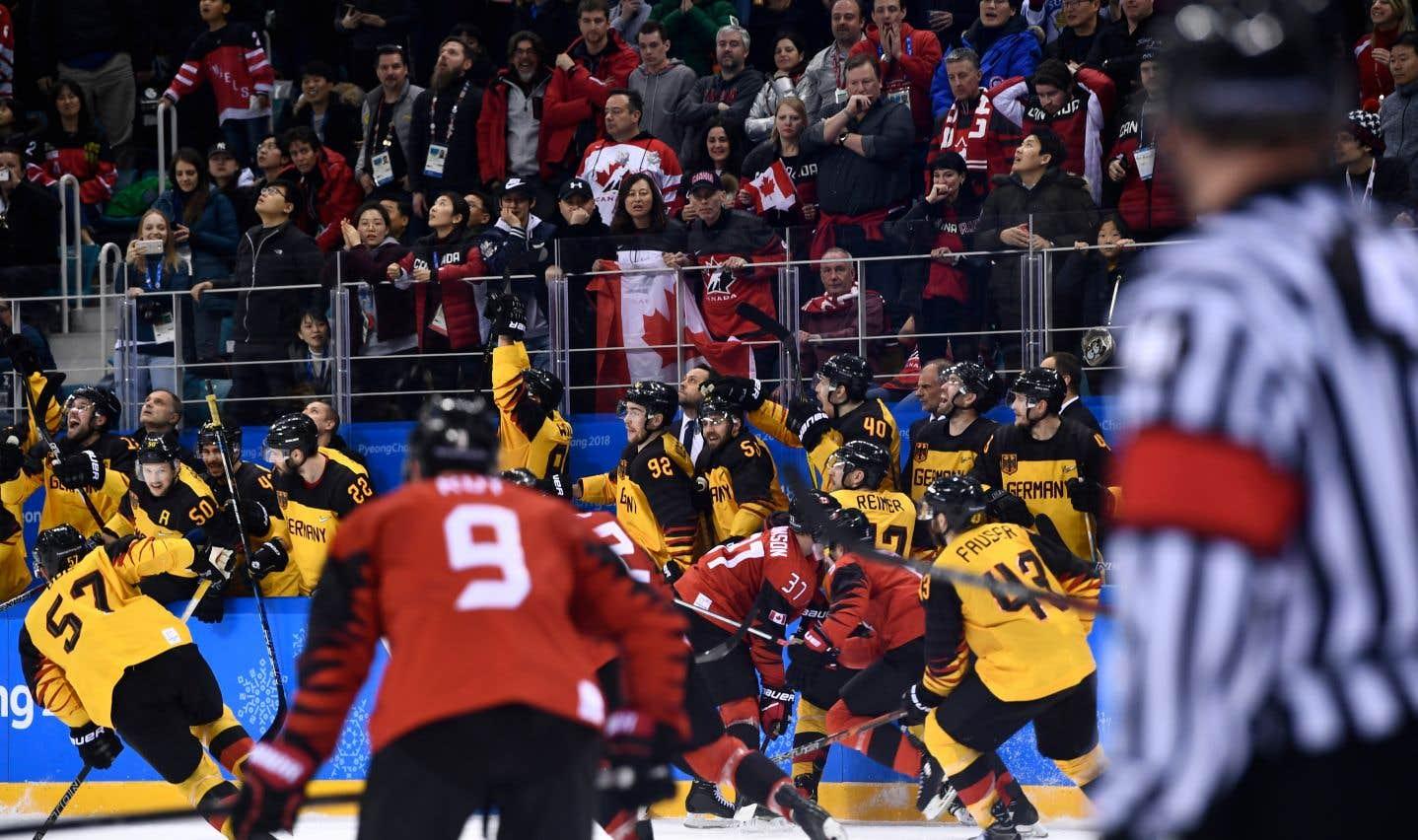 Il s'agit seulement de la deuxième victoire de l'Allemagne en 30 affrontements contre le Canada aux JO ou aux Mondiaux.