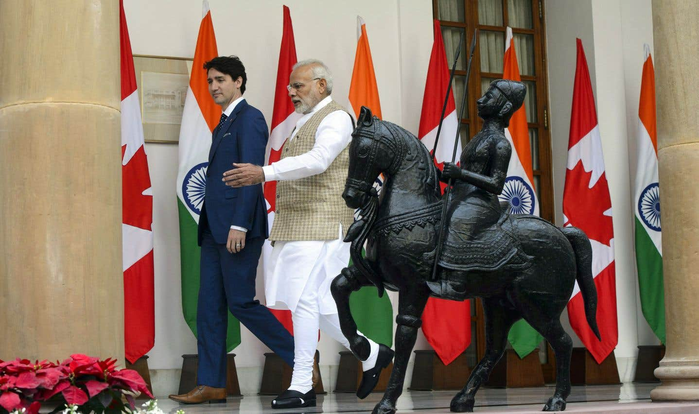Justin Trudeau a rencontré son homologue indien, Narendra Modi, vendredi, à New Delhi.