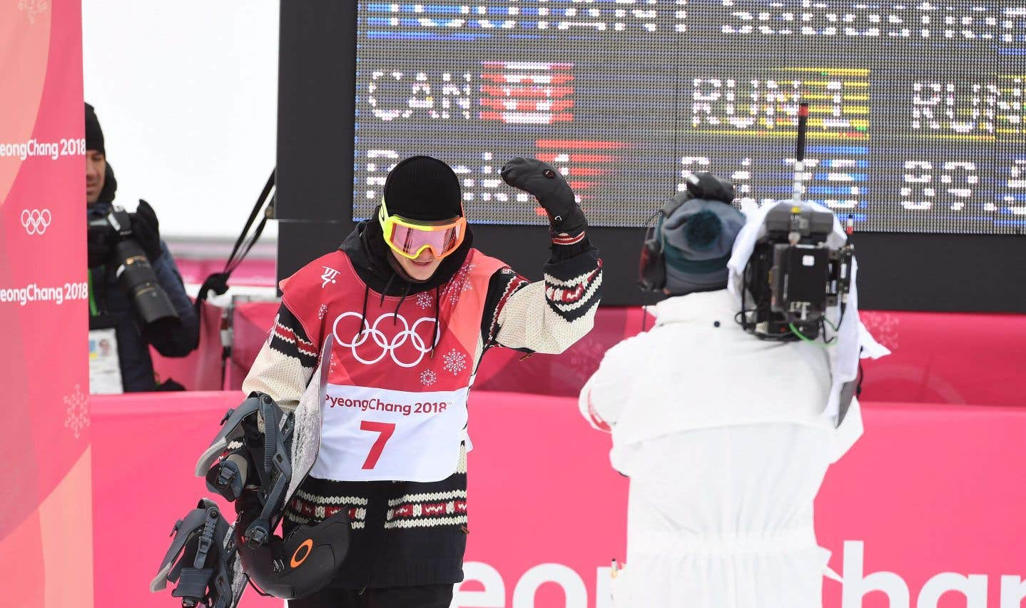 Le Québécois Sébastien Toutant après son deuxième saut, samedi, à Pyeongchang