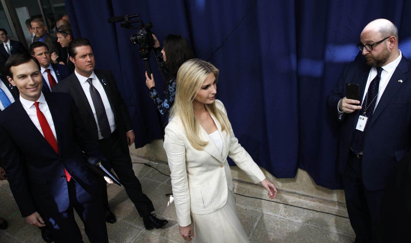 Ivanka Trump, la fille du président des États-Unis, et son mari, le conseiller à la Maison-Blanche, Jared Kushner