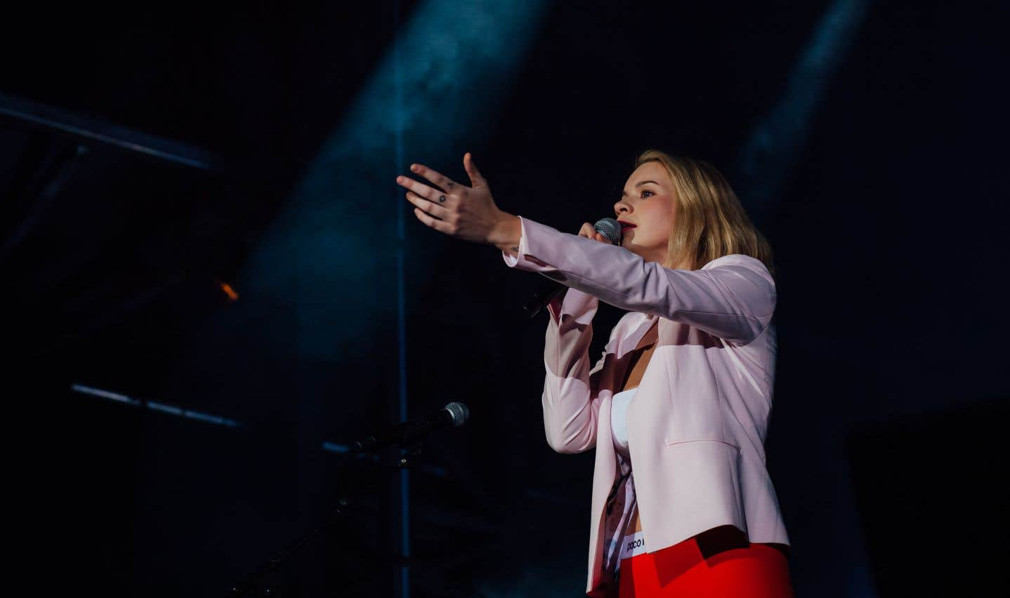 Valérie Carpentier lors du spectacle «La musique de Stone - Hommage à Plamondon» en clôture des FrancoFolies de Montréal 2018