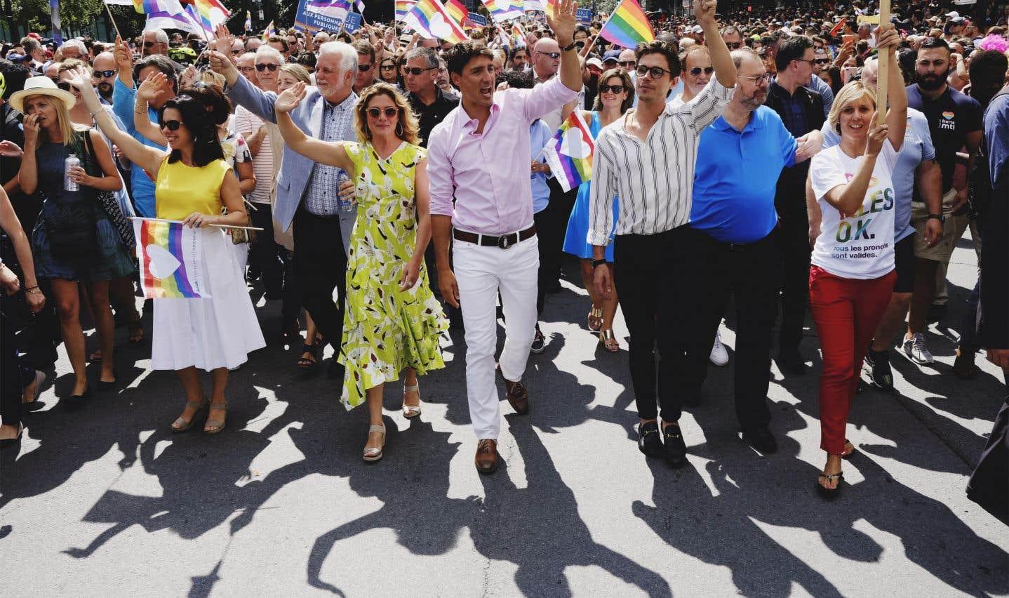 Les premiers ministres Justin Trudeau et Philippe Couillard étaient présents à l'événement, avec presque tous les autres chefs de partis.
