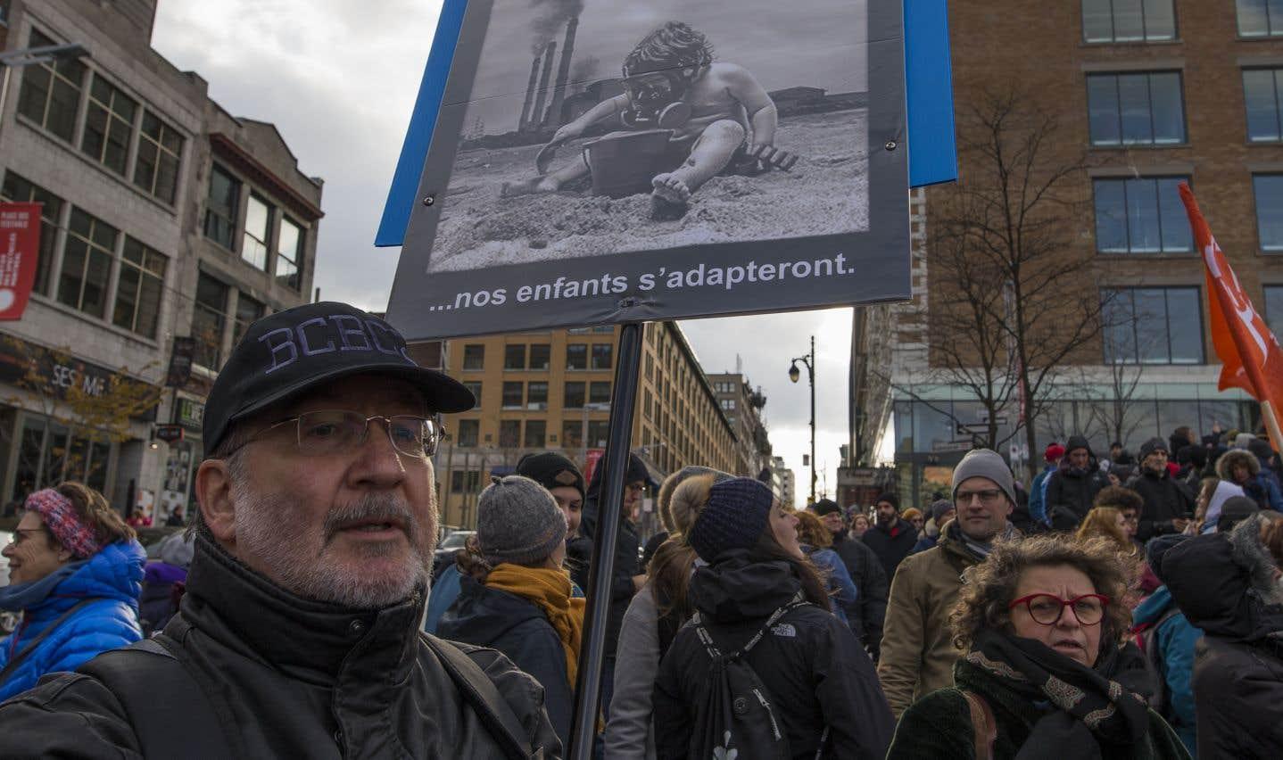 Les manifestants ont signifiéleur appui à des mesures plus ambitieuses de lutte contre les changements climatiques.