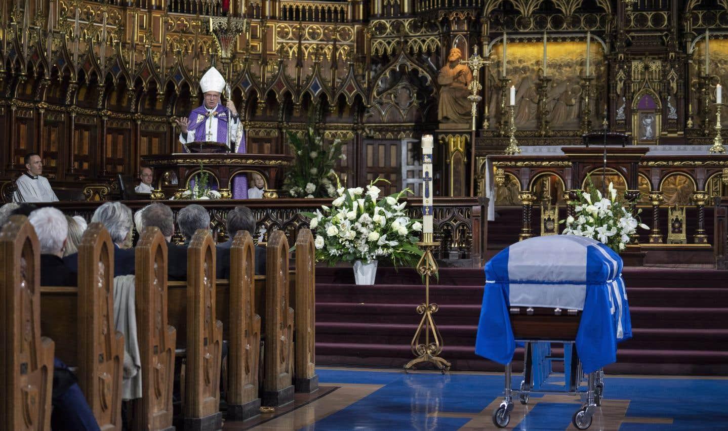 L'archevêque Christian Lépine a souligné que Bernard Landry ne considérait jamais ses adversaires politiques comme des ennemis.