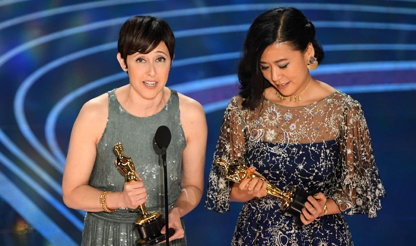 Domee Shi (à droite) et Becky Neiman-Cobb ont reçul'Oscar pour le meilleur court métrage d'animation pour le film «Bao».