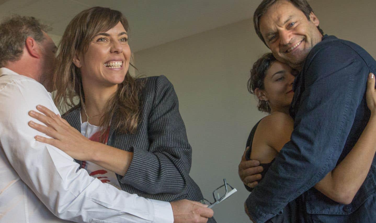 La réalisatrice québécoise Sophie Deraspe, au moment où elle a appris que son film «Antigone» représentera le Canada dans la course à l'Oscar du meilleur film international. L'adaptation actuelle et montréalaise de la pièce de Sophocle a également remporté le prix du meilleur long métrage canadien au Festival international du film de Toronto.