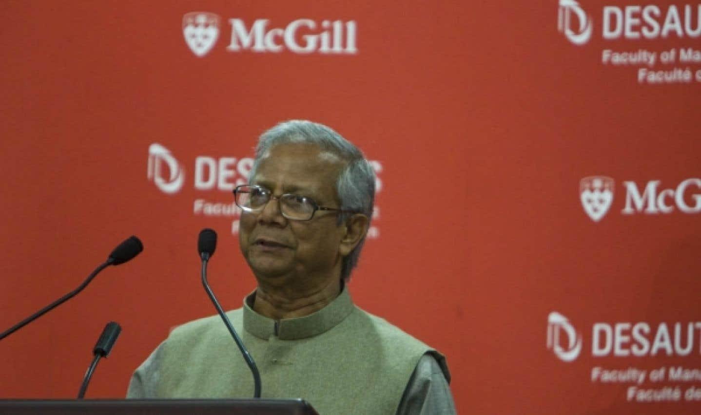 Muhammad Yunus, pionnier du microcrédit - Le banquier des pauvres s'intéresse au Canada
