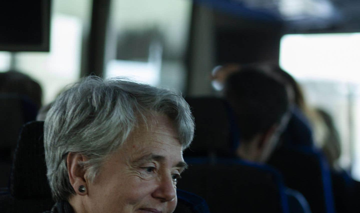 «On a fait la manif aujourd'hui en se disant: est-ce que ça se pourrait que Power [Corporation] puisse admettre que ce qu'ils ont fait n'était pas moral, et qu'ils puissent quand même prendre leurs responsabilités?», demande Marie Delagrave, ex-journaliste au «Soleil».