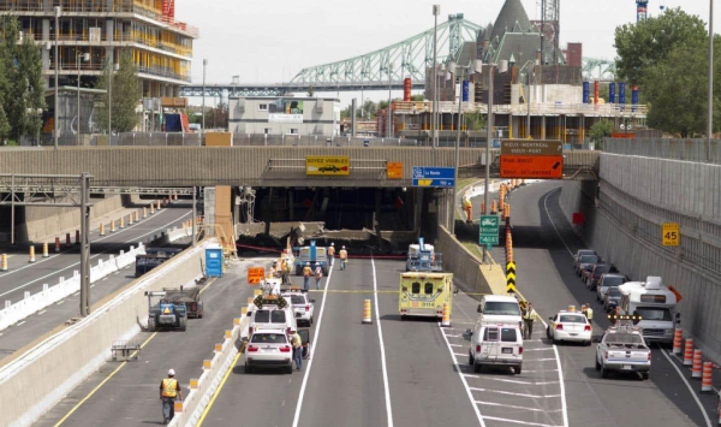 Autoroute Ville-Marie - L'état du tunnel Viger jugé critique en 2008