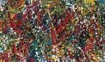 Composition, de Jean-Paul Riopelle (huile sur toile, 120 x 200 cm), a été peinte en 1951-1952.