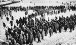 Quelques-uns des 100 000 soldats allemands faits prisonniers à Stalingrad, en février 1943. Moins de 6000 d'entre eux ont survécu aux camps de travail soviétiques.