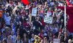 Scène de manifestation lors de la crise étudiante de 2012