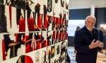 L'artiste René Derouin a remis ses archives à BAnQ ce lundi.