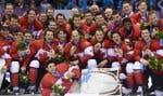 Le Canada a défendu avec succès son titre olympique acquis à Vancouver en 2010. Il s'agit du premier pays à réaliser cet exploit depuis l'Union soviétique en 1988.