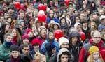 Un rassemblement organisé par l'ASSÉ lors du Printemps érable. L'Association, qui prendra part au Forum social des peuples, croit que «les jeunes doivent demeurer alertes à ce qui se passe et réagir aux attaques néolibérales contre nos services publics».