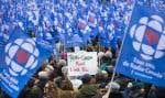 Des milliers de personnes ont manifesté dimanche à Montréal.