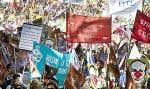 Le Front commun intersyndical a mené plusieurs actions dans les derniers mois, dont une grande manifestation à Montréal le 3octobre dernier.