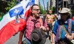 Des centaines de personnes se sont rassemblées dans les rues de Montréal.