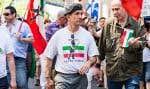 Environ 300 personnes ont défilé lundi après-midi à Montréal pour souligner la Journée nationale des patriotes.