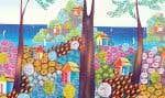 Arbre sacré, de Harold St Jean, œuvre originale haïtienne en acrylique sur toile.