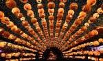 L'Halloween a été soulignée un peu partout à travers le monde cette semaine. Pour preuve: ces lanternes en forme de citrouille accrochées devant un centre commercial de Shenyang, dans le nord-est de la Chine.
