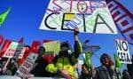 Des manifestants contre le traité, à Strasbourg, en février dernier.