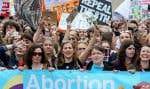 Des dizaines de milliers de manifestants étaient attendus lors d'un rassemblement pour le droit à l'avortement à Dublin, le 30 septembre.