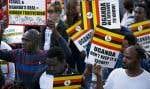 Des migrants africains manifestaient leur désaccord envers la volonté du gouvernement de Benjamin Nétanyahou de les déporter, le 9avril dernier, dans les rues de la capitale, Tel-Aviv.