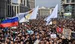 La manifestation a rassemblé environ 8000 personnes dans le centre de Moscou, selon la police et les organisateurs.